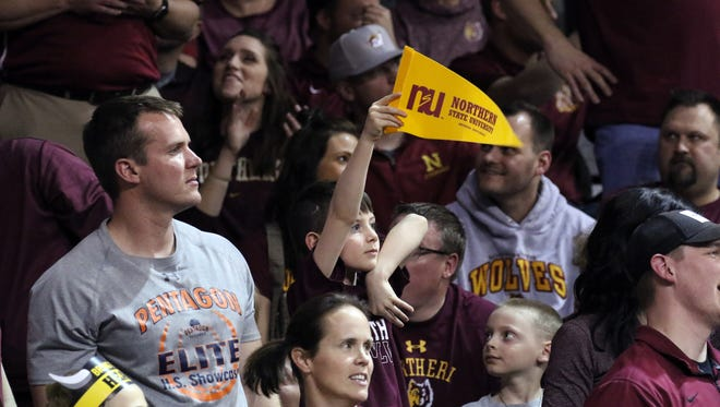 Northern State fans cheer on their team.