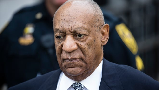 In this Aug. 22, 2017 file photo, Bill Cosby departs after a pretrial hearing in his sexual assault case at the Montgomery County Courthouse in Norristown, Pa.
