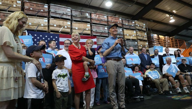 Florida Gov. Rick Scott announced his bid to run for the U.S. Senate to take the seat if Bill Nelson on Monday. He made two visits in Florida, one in  Orlando and one to Sun Harvest Citrus in Fort Myers.The images are from Sun Harvest Citrus.
