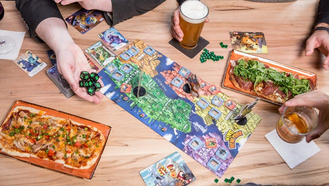 Board games and bar bites at Snakes & Lattes board game cafe.