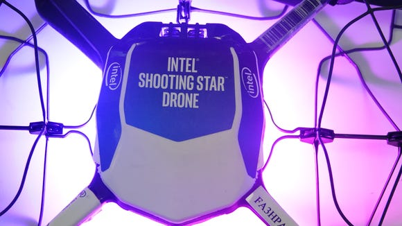 The Intel Shooting Star drone weighs less than 330