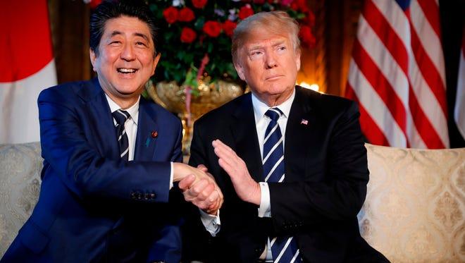 President Trump and Japan Prime Minister Shinzo Abe.