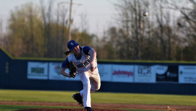Sterlington pitcher Adam Tubbs (1) had a no-hitter in Game 2 going before giving up three runs in the fifth and sixth innings. Tubbs battled back to pitch a complete game and finished with four strikeouts.