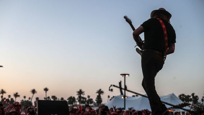 Apr 28, 2018; Indio, CA, USA; Brothers Osborne perform during the Stagecoach Country Music Festival at Empire Polo Club. Mandatory Credit: Richard Lui/The Desert Sun via USA TODAY NETWORK
