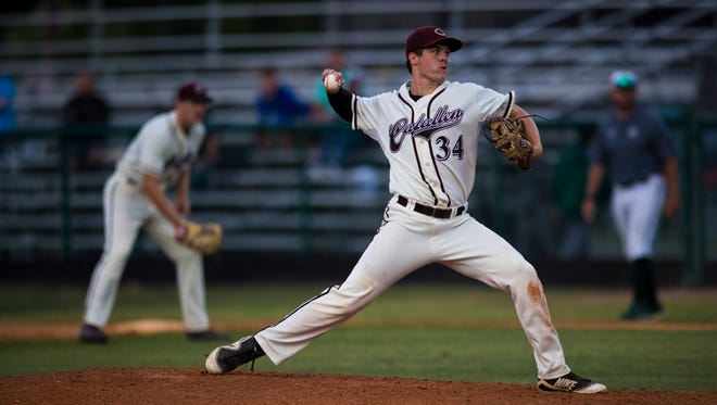 Calallen pitcher Hambleton Oliver is one of more than a dozen area athletes who will make their college commitments official this week. The early signing period for colleges begins Wednesday.