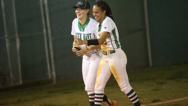 The Fort Myers High School softball team defeated the Estero High School softball team 5-1 in Fort Myers Region 7A-3 semi final action at Fort High School on Tuesday 5/8/2018.  Fort Myers moves on.