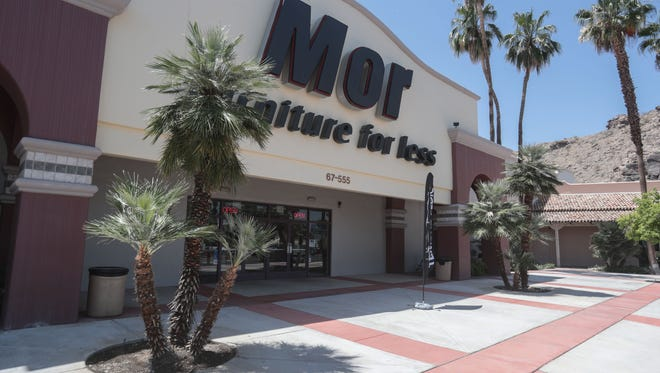 A Mor furniture store is shown in Cathedral City, Calif., in May 2018.