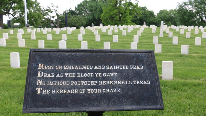Crown Hill National Cemetery is the final resting place of hundreds of American military personnel.