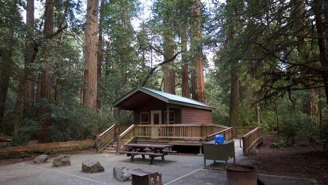 Newly installed cabins can be rented at Jedediah Smith Redwoods State Park.