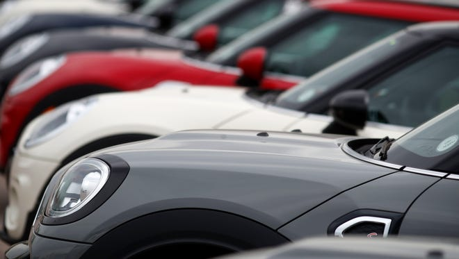 Along line of 2018 and 2019 Cooper Countryman models sits at a Mini Cooper dealership in Highlands Ranch, Colo. On Thursday, May 31, the Commerce Department issues its April report on consumer spending, which accounts for roughly 70 percent of U.S. economic activity.