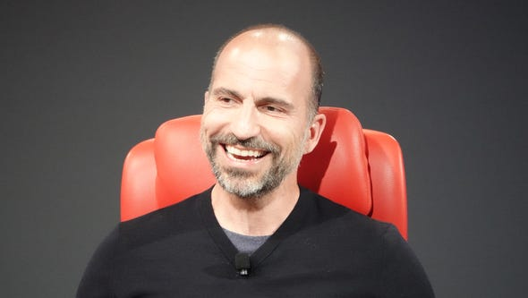 UBER CEO Dara Khosrowshahi speaks at the Code conference