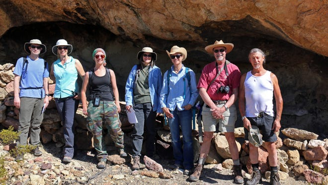 NMSU faculty from left: Donovan Bailey, biology; Michaela Buenemann, geography; Kelly Jenks, anthropology; Rani Alexander, anthropology; Emily Johnson, geology; Chris Brown, geography, and Peter Houde,, biology.