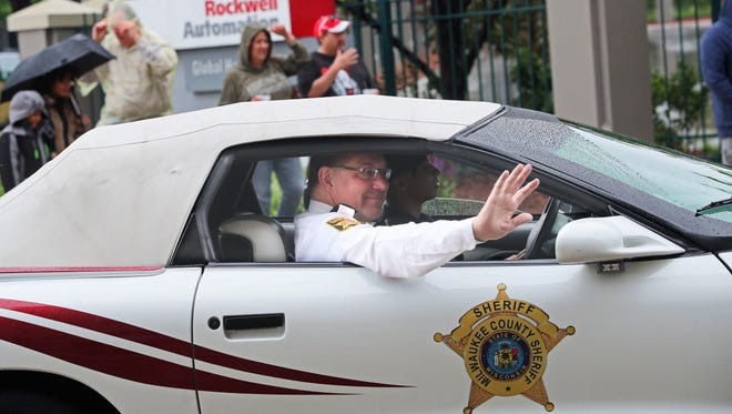 Milwaukee County Acting Sheriff Richard Schmidt rode in Milwaukee's Pridefest parade. Madison organizers have announced law enforcement officers will not be allowed to march in the parade this year.
