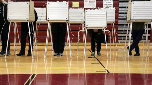 Voters cast their ballot Nov. 8, 2016.