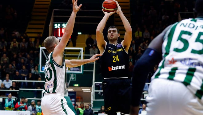Former FGCU standout Chase Fieler was on fire for Belgium's BC Oostende last season when he shot 49.6 percent from behind the 3-point line.