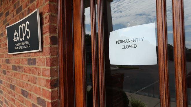 The Comprehensive Pain Specialists clinic in Murfreesboro is among those that have closed abruptly.