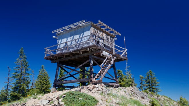 Bull of the Woods Lookout, which has been around since the early 1940s, offers spectacular views from Mount Hood to the Three Sisters.