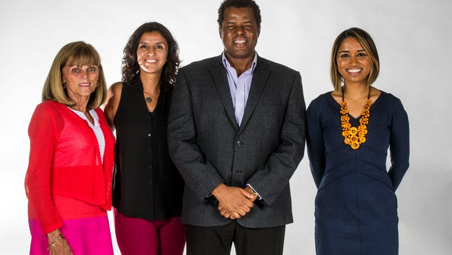 New editorial board citizen members, from left, Bobbie D'Alessandro, Diana Giraldo, Michael Chatman and Indera DeMine.