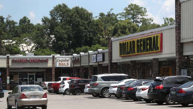 The Towne South Shopping Center on South Monroe Street where the city has made plans to purchase the property and build a new Tallahassee Police Department and public safety campus.