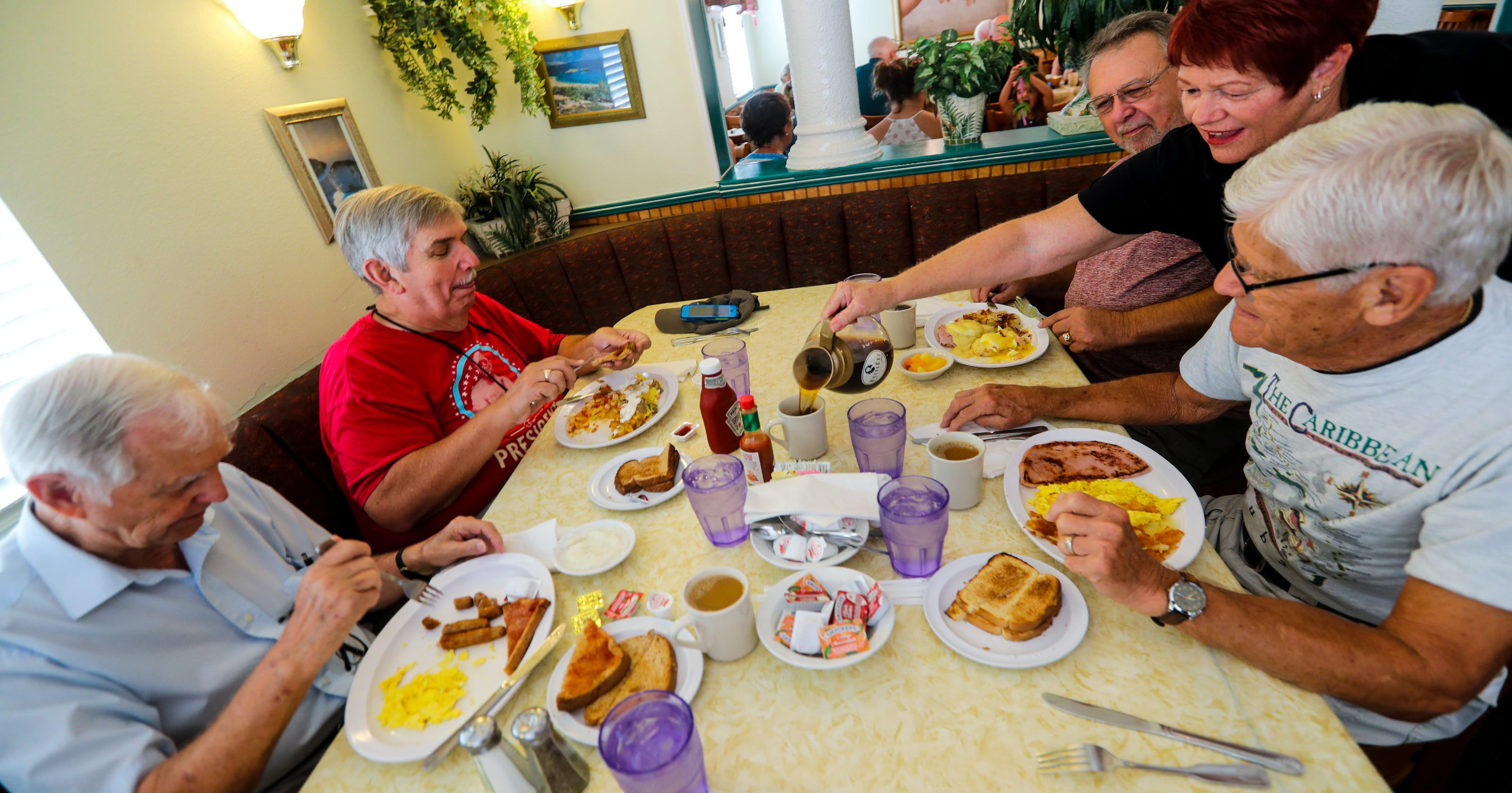 ROMEOs, Retired Old Men Eating Out, find health, happiness