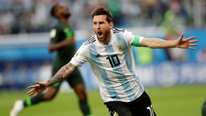 International soccer stars, such as Argentina's Lionel Messi, shown above, could soon be featured in a game at Penn State's Beaver Stadium. AP FILE PHOTO