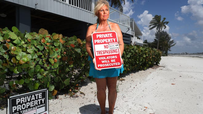 Toni Streur, a Fort Myers Beach front resident has become vocal about beach access rights. She and her husband, Wayne say they have dealt with rude beachgoers right in front of her home.
