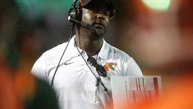 FAMU head coach Willie Simmons watches his team in MEAC action.