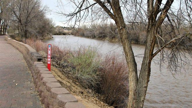 The Animas River flows adjacent to Boyd Park in Farmington on Wednesday.