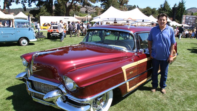 Ken Gimelli and his 1956 Cadillac Custom View Master station wagon at the Quail Motorsports Gathering.