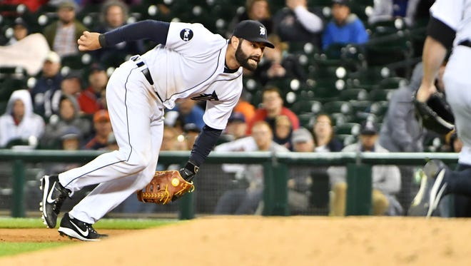 Alex Avila has made nine of his 25 appearances this season at first base for the Tigers.
