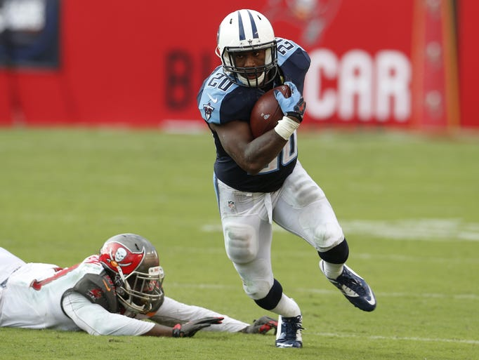 Titans running back Bishop Sankey's playing time has