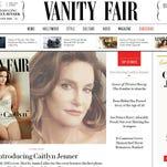 Vanity Fair website featuring the photo by Annie Leibovitz