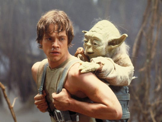 Yoda (voiced by Frank Oz) had Luke Skywalker's (Mark