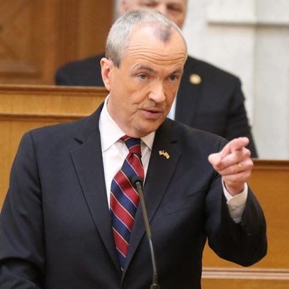 Governor Phil Murphy presents his budget as he addresses