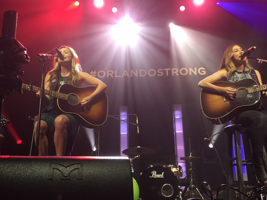 Country duo Maddie and Tae perform at K92.3's Country Strong Benefit Concert at the CFE Arena.