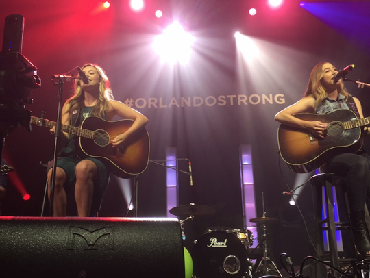 Country duo Maddie and Tae performing K92.3's Country