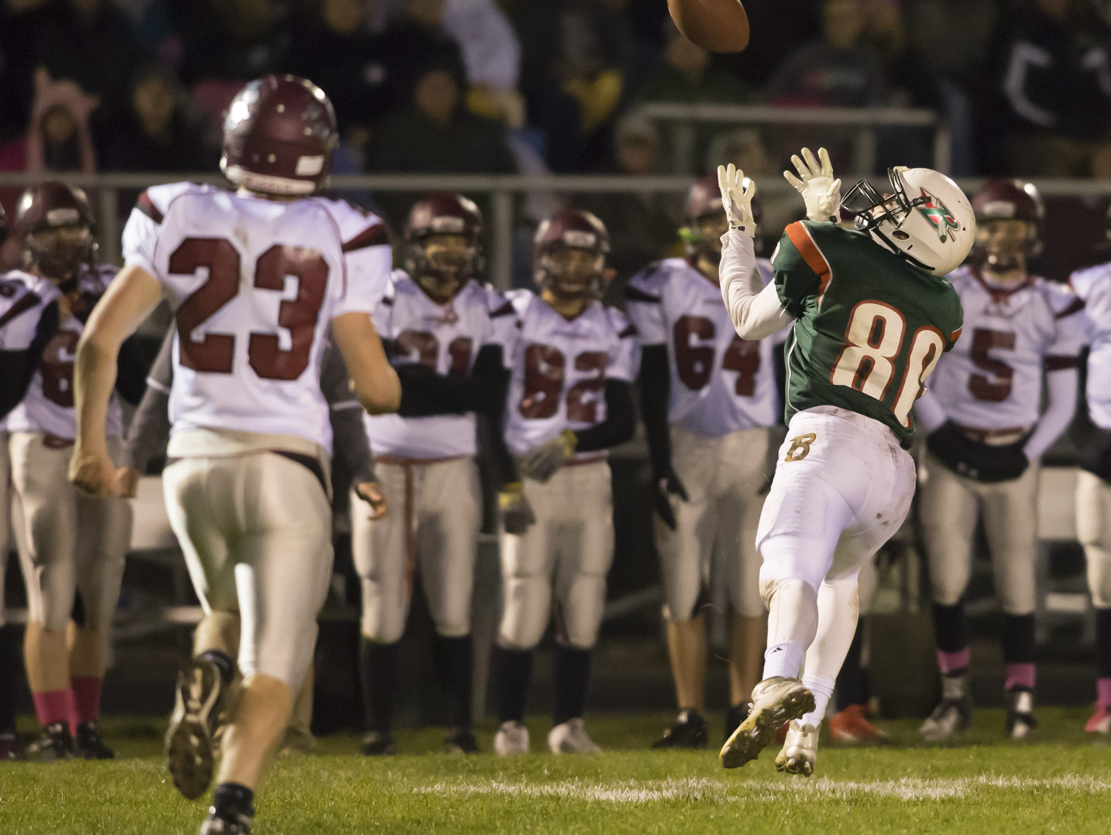 Berlin's Lucas Gravunder was named the Receiver of the Year in the East Central Conference.