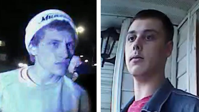 Marcus Wilson (far left) and Mason O'Neal, shown here in this photo provided by the Muncie Police Department, are wanted for their alleged involvement in Sunday's deadly shooting.