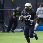 Purdue's D.J. Knox is one of the team's top running backs