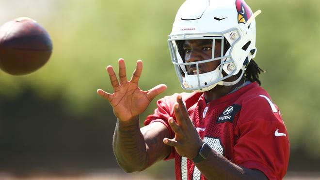 Arizona Cardinals wide receiver Chad Williams during voluntary Organized Team Activities on May 15, 2018 at the Arizona Cardinals Training Facility in Tempe, Ariz.