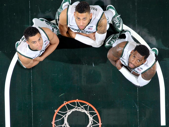 Spartans from left: Travis Trice, Denzel Valentine