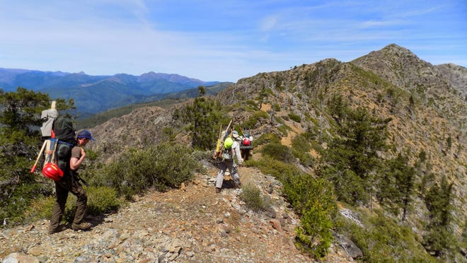 Members of the Siskiyou Mountain Club worked for five years to clear the 26-mile Trans-Kalmiopsis Route through Southwest Oregon's Kalmiopsis Wilderness.
