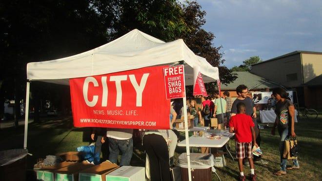 City Newspaper tent