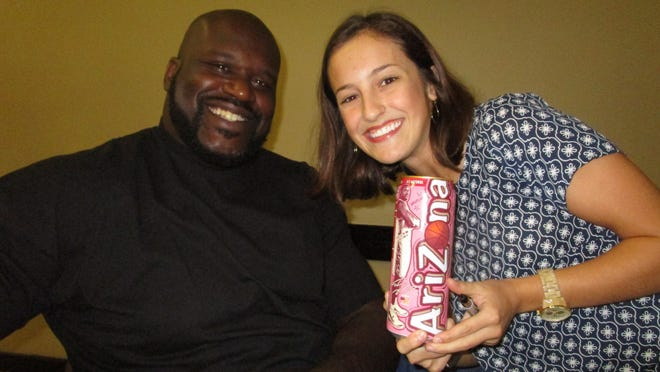 Saquille O'Neal and Annie Peret