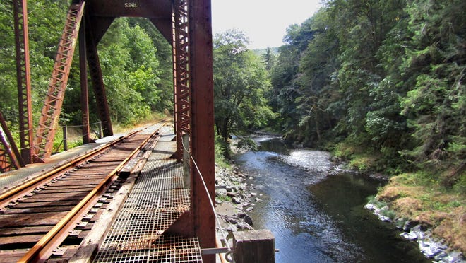 Salmonberry River railroad trail mixes history and nature.