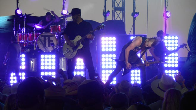Tyler Farr's band performs Friday night at Night in the Country in Yerington.