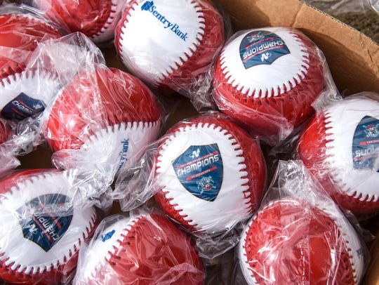 Promotional baseballs will be given to fans during