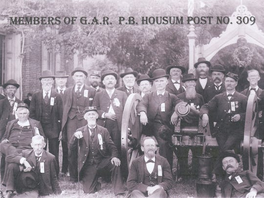 "The ""Boys in Blue"" at the Housum House in the late 1800s"