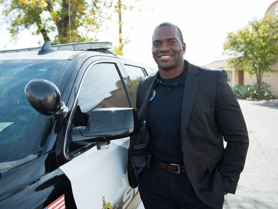 Jamar Cotton, a Doña Ana County sheriffs deputy who is one of the 2017 New Mexico True Heroes, Tuesday Nov. 21, 2017.