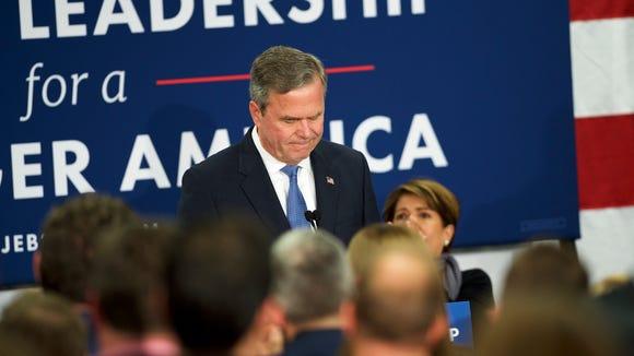 Jeb Bush announces the suspension of his campaign at